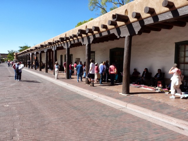 palace of the governors, santa fe plaza