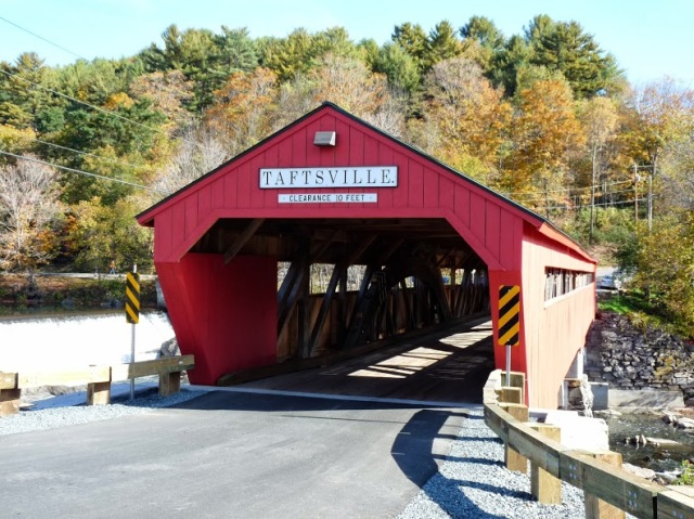 restored taftsville bridge, vermont