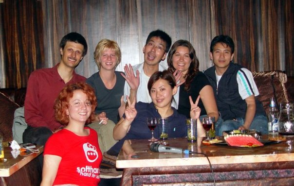 the anji foreign legion, out for a night of karaoke in 2006.