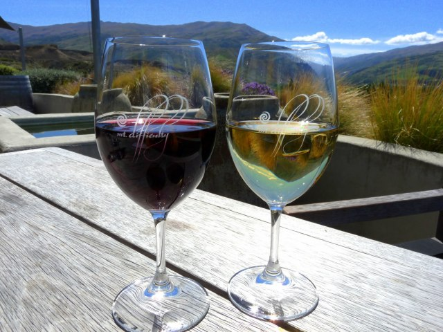 relaxation in a glass in central otago.